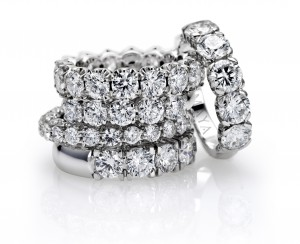 half and whole alliances with brilliant cut diamonds
