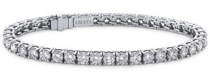 Pulsera riviäre Amaya en oro blanco con diamantes talla brillante 6,02 cts de peso total