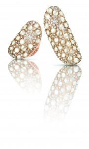 Sortijas en oro rosa con diamantes y madre perla de Pasquale Bruni