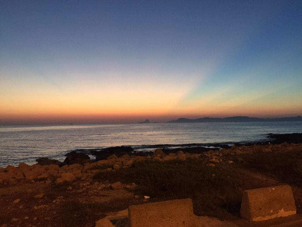 Espectacular puesta de sol en Formentera